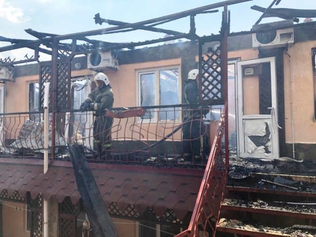 Сгорел Арсенал в Евпатории