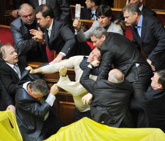 Верховная рада Украины драка