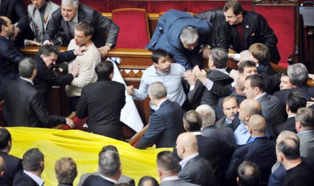 Депутаты дерутся