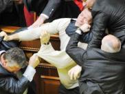 Драка в Верховной Раде Украины