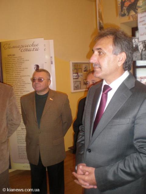 Анатолий Гриценко в музее Сельвинского Симферополь