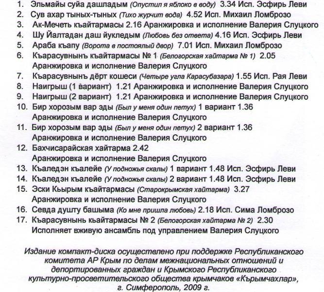 Список произведений