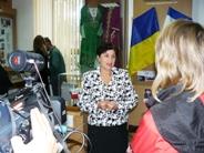 Дора Пиркова в музее крымчаков