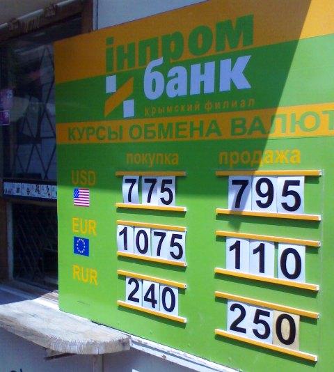 Курсы валют на форекс в украине