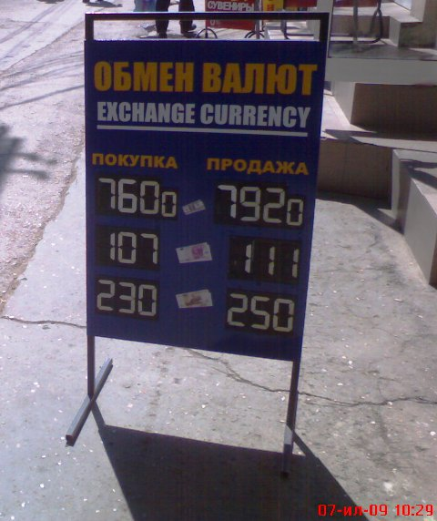Курс валют в крыму сегодня