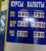 курс валюты в Евпатории 22 декабря 2008