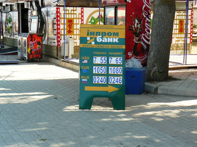 Обменный курс валют в украине