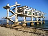 Развалины Евпатории. Пляж санатория