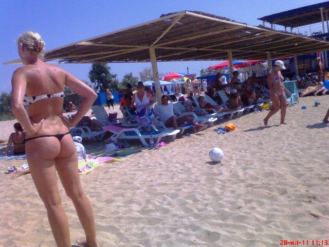 скритое фото на пляже