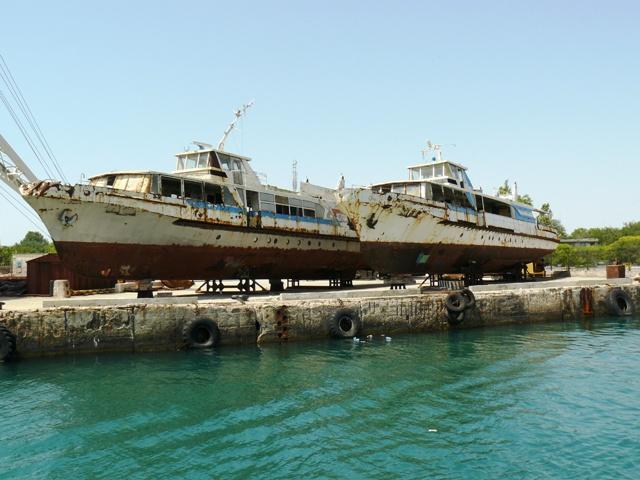 Причал Евпаторийского морского порта