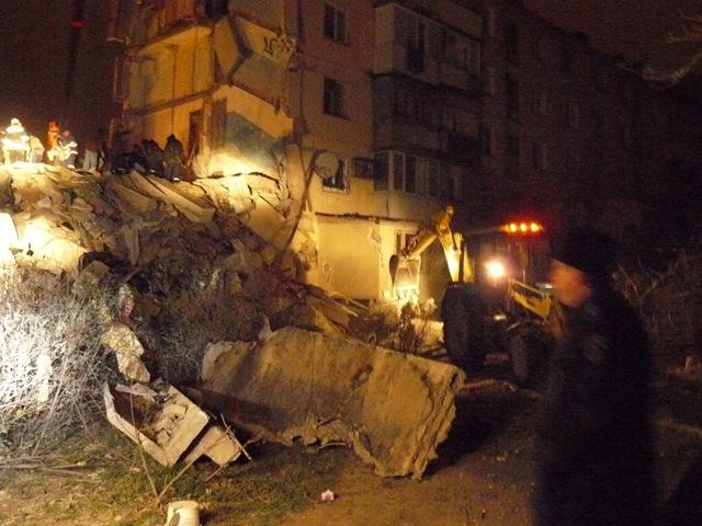Место взрыва дома